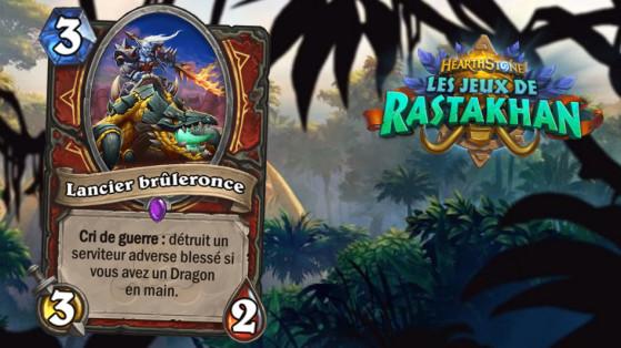 Hearthstone Les Jeux de Rastakhan: Lancier brûleronce (Smolderthorn Lancer)