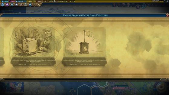 Plus de cinq villes des nos adversaires ont rejoint notre empire grâce au pouvoir de la (dé)loyauté d'Alienor, elle est fourbe. - Civilization 6
