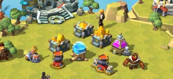 Or, potions, énergie... Les bâtiments vous provisionnent de bien des manières ! - Skylanders Ring of Heroes