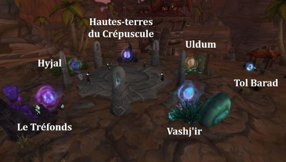 8.1 & 8.1.5 : Orgrimmar, portails vers les zones de World of Warcraft : Cataclysm - World of Warcraft