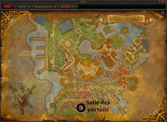 Hurlevent, emplacement de la salle des portails située dans la Tour des Mages - World of Warcraft