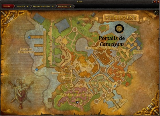 Hurlevent, emplacement des portails vers les zones de World of Warcraft : Cataclysm - World of Warcraft