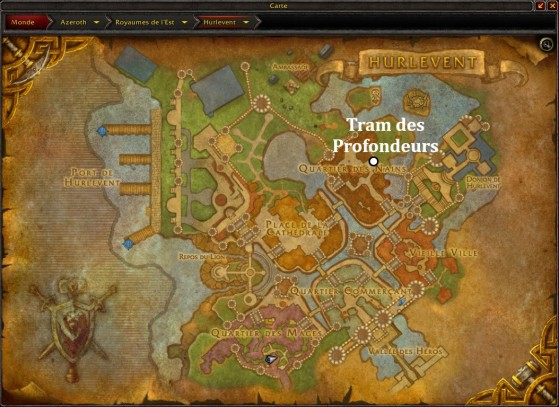 Hurlevent, accès au Tram des Profondeurs - World of Warcraft