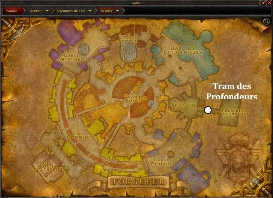 Forgefer, accès au Tram des Profondeurs - World of Warcraft