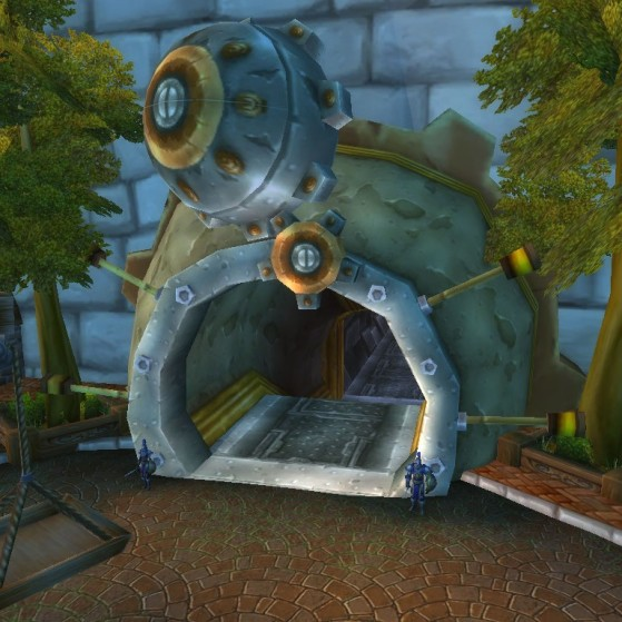 Hurlevent, entrée du Tram des Profondeurs - World of Warcraft