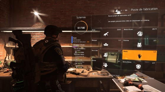 Guide The Division 2 : Artisanat, fabrication, plans, crafting, craft