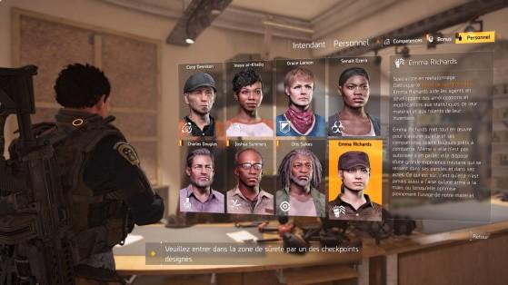 Guide The Division 2 : Recrutement du personnel