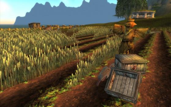 Il y a une ferme aussi où j'imagine que les gamins achètent des produits locaux pour leurs parents, avant de se rendre compte qu'ils ont été fabriqués dans un sweat shop tenu par des Gobelins. - World of Warcraft
