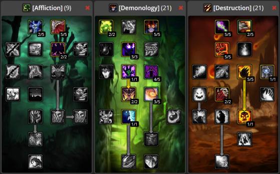 Build Sacrifice démoniaque PvE 9/21/21 - WoW : Classic