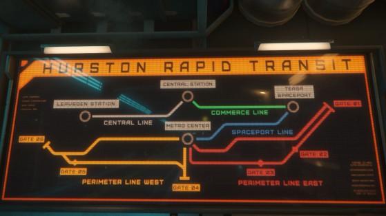 Plan de circulation du HRT - Star Citizen