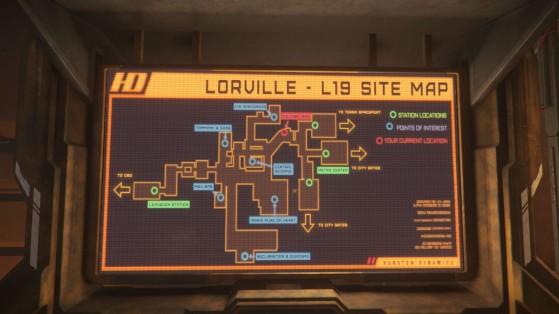 Plan de Lorville - Star Citizen