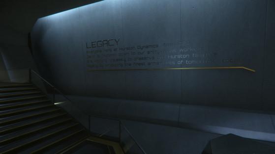 Les Plaque memorials couvrent les murs de Central - Star Citizen
