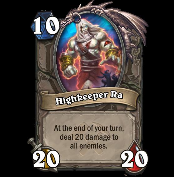À la fin de votre tour, inflige 20 points de dégât à tous les ennemies - Hearthstone