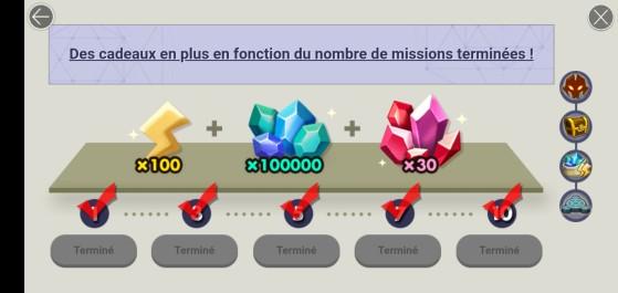 En remplissant les missions, vous récupérez des ressources supplémentaires ! - Summoners War