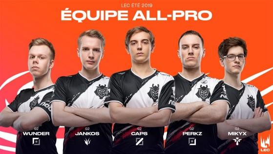 LoL - LEC Summer Split 2019 : Équipe All-Pro, G2 Esports, Fnatic