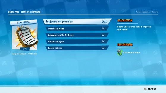 Crash Team Racing : Défis Rapides du Grand Prix 3 - Spyro et Compagnie