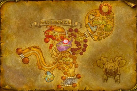 Localisation du Maître des Démonistes d'Orgrimmar - WoW : Classic