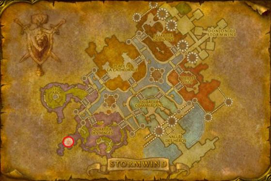 Localisation du Maître des Démonistes de Stormwind - WoW : Classic