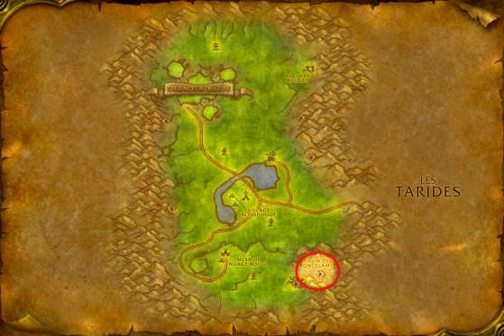Localisation des Chamans Dos-hirsute - WoW : Classic