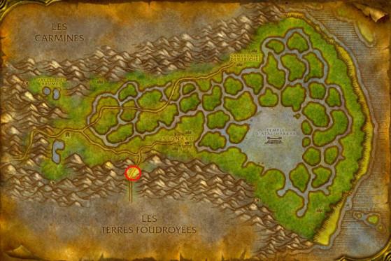 Localisation du Héros déchu de la Horde - WoW : Classic