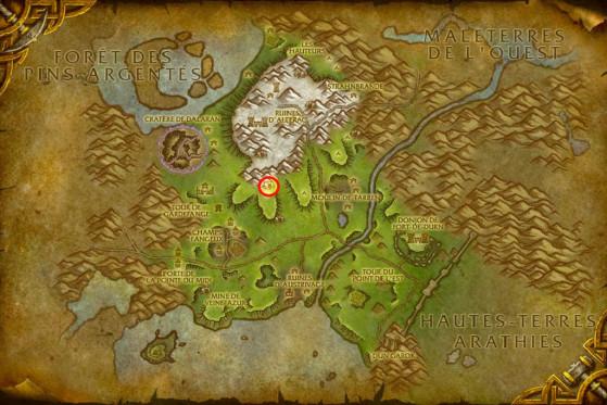 Localisation de Thanthaldis Luireneige - World of Warcraft