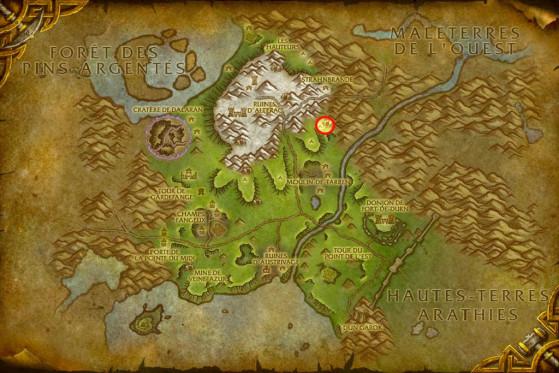 Localisation de Jorek Flandefer - World of Warcraft