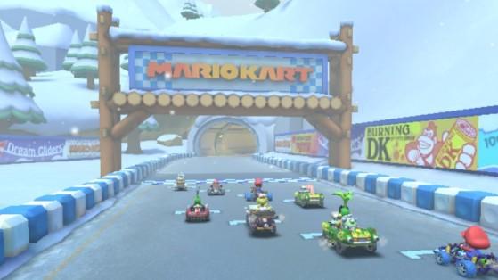 Mario Kart Tour : Renverser 5 bonhommes de neige, défi saison hivernale