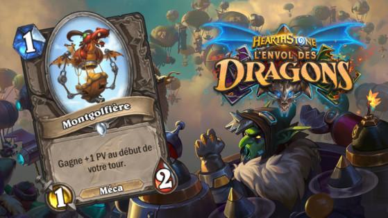 Hearthstone Envol des Dragons : nouveau serviteur commun neutre Montgolfière