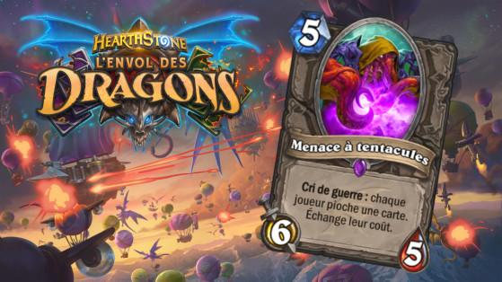Hearthstone Envol des Dragons : nouveau serviteur épique Neutre Menace à tentacules