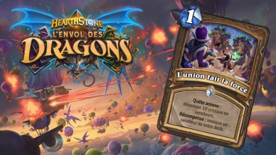 Hearthstone Envol des Dragons : nouvelle quête annexe commun Druide L'union fait la force