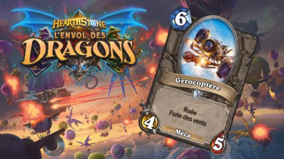Hearthstone Envol des Dragons : nouveau serviteur commun neutre Gyrocoptère