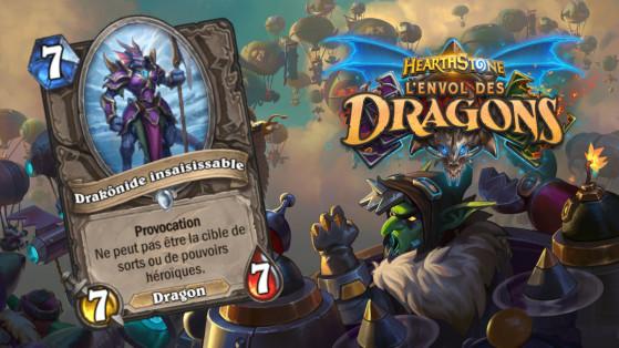 Hearthstone Envol des Dragons : nouveau serviteur commun Neutre Drakônide insaisissable
