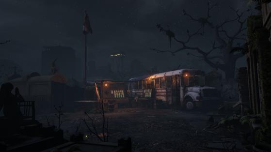 Le bus avec la Tour dans le fond - Millenium
