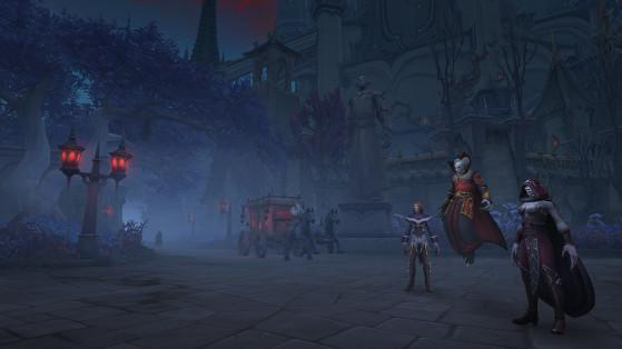 Hélez une calèche pour visiter Revendreth tout en reposant vos pieds ou vos sabots fatigués. - World of Warcraft