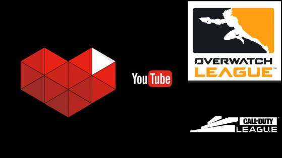 Overwatch League - CoD League : Impact Youtube sur le nombre de spectateurs, average ccv