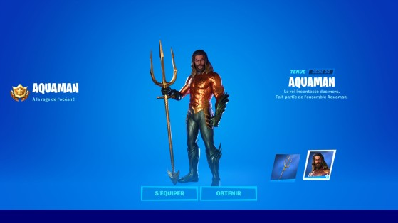Tenue Aquaman + Trident - Fortnite : Battle royale