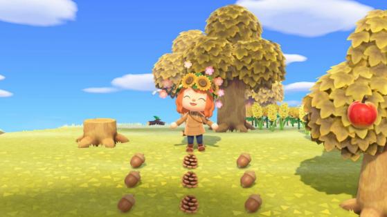 Pomme de pin, Glands et liste des meubles dans Animal Crossing New Horizons