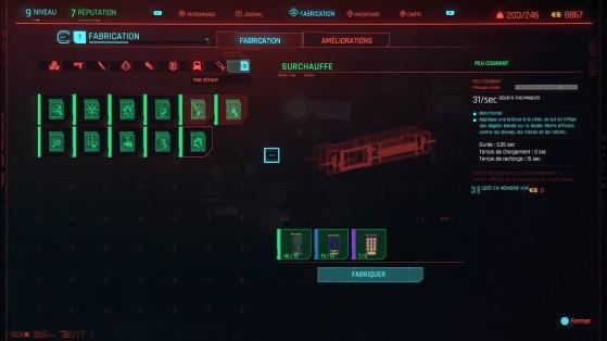 Vous pouvez fabriquer des modules cybernétiques… - Cyberpunk 2077