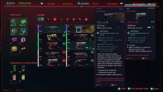 Le démontage d'objet vous permet de récupérer gratuitement des composants - Cyberpunk 2077