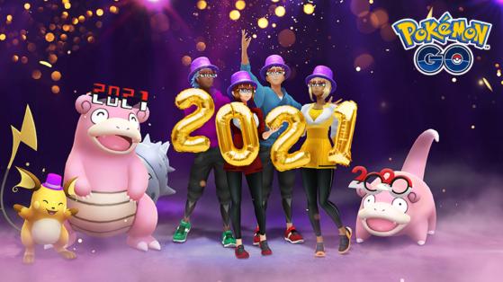 Evenement du Nouvel An 2021 sur Pokémon GO