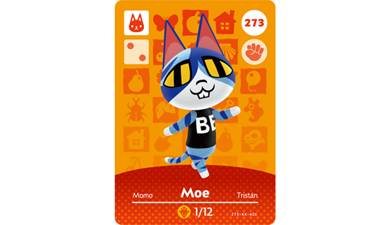 Carte Amiibo de Momo - Animal Crossing New Horizons
