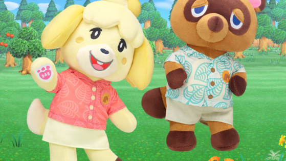 Build a Bear Animal Crossing New Horizons : les peluches Marie et Tom Nook disponibles
