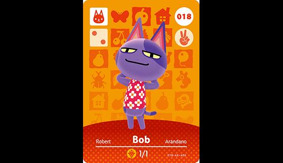 Carte Amiibo de Robert - Animal Crossing New Horizons