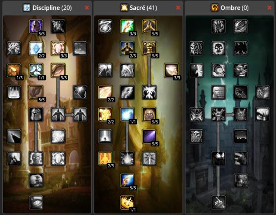 Build Deep Sacré + Discipline multicible 20/41/0 - Burning Crusade : Classic