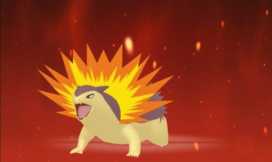 Typhlosion sous sa forme chromatique - Pokémon Épée et Bouclier