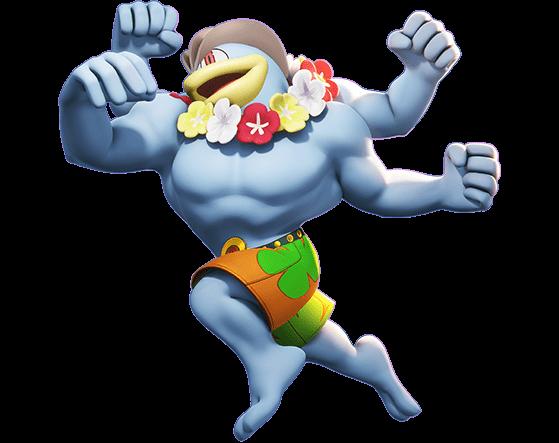 Beach Style Mackogneur :  350 Gemmes ou 18 tickets - Pokemon Unite