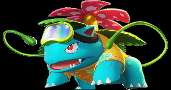 Beach Style Florizarre : gratuit (récompense de bienvenue) - Pokemon Unite