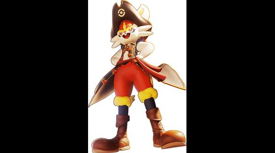 Captain Style Pyrobut : récompense payante du Pass de combat (niveau 90) - Pokemon Unite