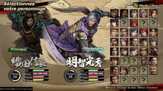 Samurai Warriors 5 : Sélection des personnages - Millenium