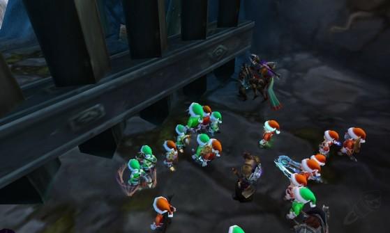 Un champ de bataille durant le Voile d'hiver... Ahem... - World of Warcraft